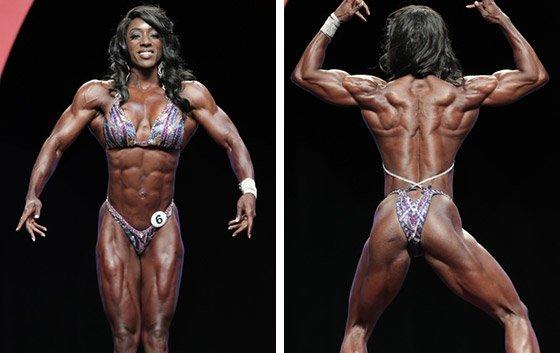 Pro bodybuilder nathalie falk in the gym - 4 4