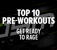 Top 10 Pre-Workouts - Get Ready To Rage