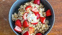 Strawberry and Banana Nut Bread Oatmeal