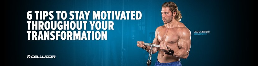 6 Tips To Stay Motivated Throughout Your Transformation
