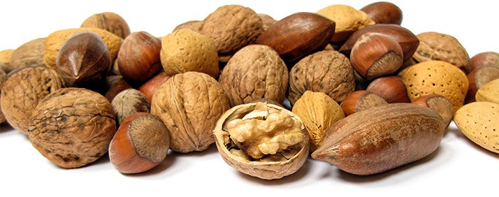Healthy fats incude almonds, Brazil nuts, cashews, pecans, pistachios, and walnuts.
