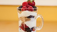 Yogurt Parfait with Wheat Germ and Berries