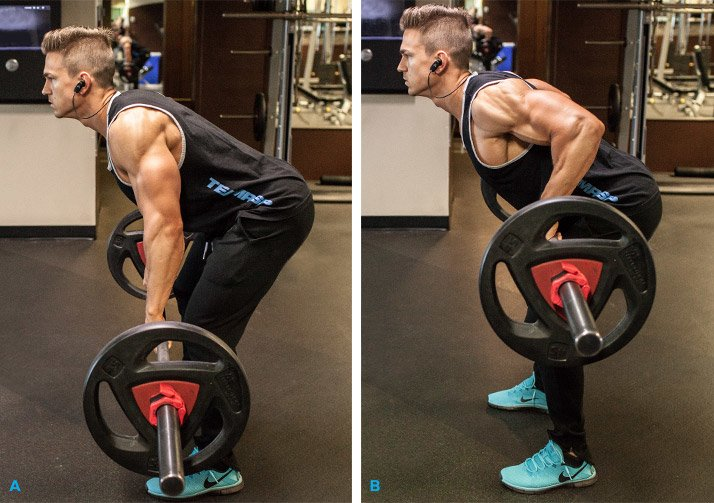 Wide Grip Bent Over Barbell Row
