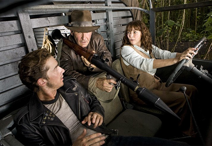 Shia LaBeouf, Harrison Ford & Karen Allen Star In Indiana Jones and The Kingdom of the Crystal Skull.