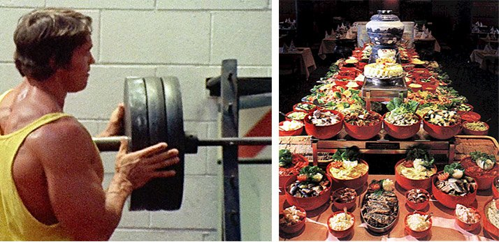 Arnold schwarzenegger blueprint trainer day 20 you would think the owners of the smorgasbord would have charged us more at least but they treated us no different from any other customer malvernweather Choice Image