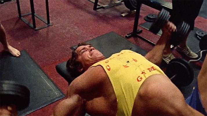 Arnold schwarzenegger blueprint trainer mass training overview arnold was known for the size shape and extreme width of his chest which he credits to an extreme stretch on the flye malvernweather Choice Image