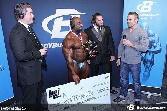 Dexter Jackson Accepts The Fan's Choice Award