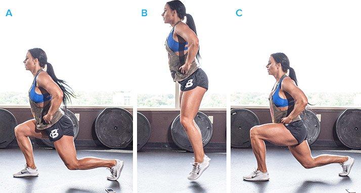 Jumping split squat