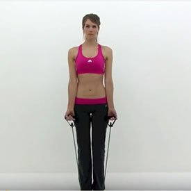 Resistance-band curl