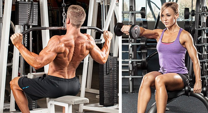 Some exercises, like lat pulls and most shoulder raises, are particularly hard to target the right muscle do the work if you use too much weight.