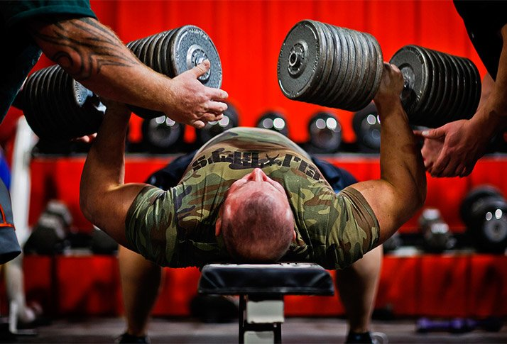 Benching Own Weight Part - 38: Dumbbell Benching Prevents The Lifter From Bouncing The Bar Off His Or Her  Chest And Also Allows Us To Work Through A Greater Range Of Motion.