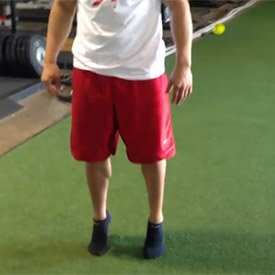 Bodyweight calf raise (on floor)