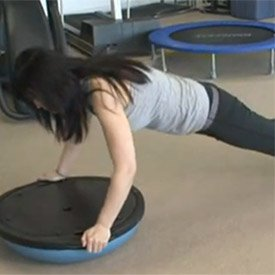 BOSU-ball push-up