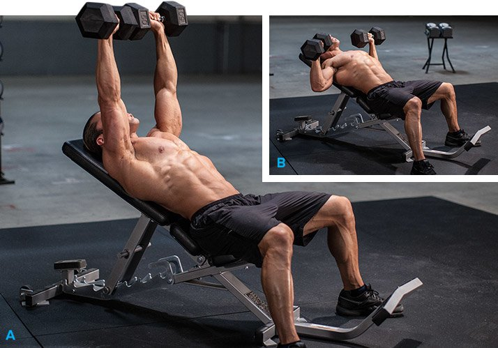 Dumbbell Incline Bench