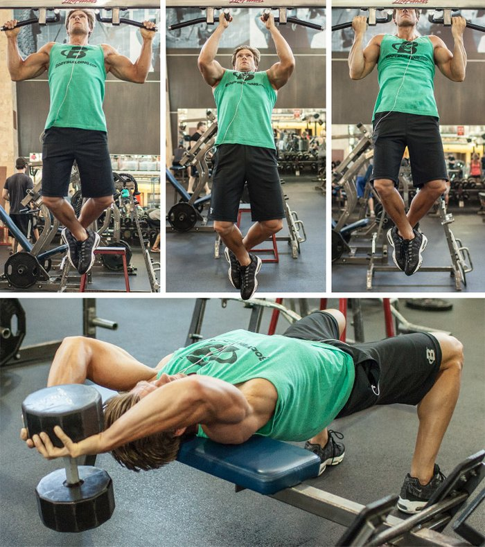 Superset Pull Up Dumbbell Over