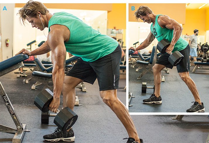 Single Arm Bent Over Dumbbell Row