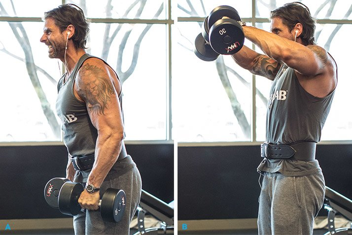 Use The Same Dumbbells For All Three Exercises And Don T Rest Between You Can Stand In One Place Parts Of Triset