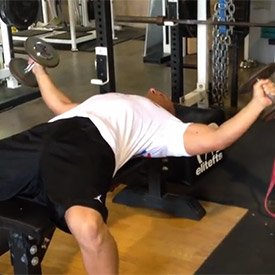 Strict dumbbell fly with internal rotation