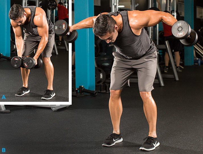 Standing dumbbell side laterals