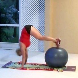 Exercise ball pike