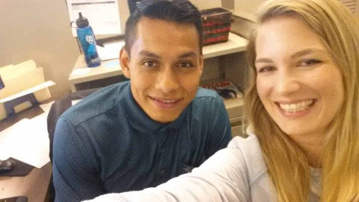 Selfie at the office with Gerardo Juarez, Accounting Specialist