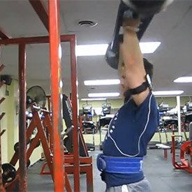 Football bar overhead press