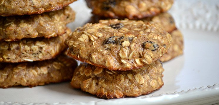 Protein Oatmeal Raisin Cookies