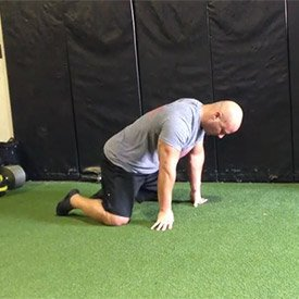 Kneeling thoracic extension + rotation (hips on heels)