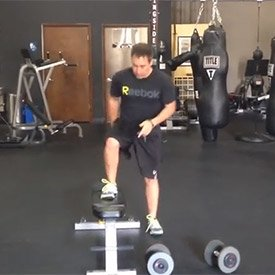 Lateral bench jump-over