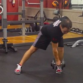 Lateral lunge with cross reach
