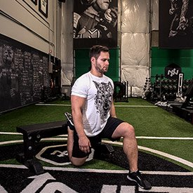 Rear-foot-elevated hip-flexor stretch