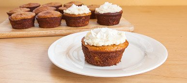 Frosted Coconut Protein Cupcakes