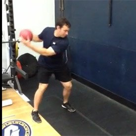 Medicine-ball side scoop