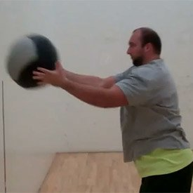 Step + chest throw