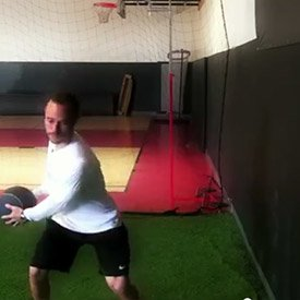 Medicine ball side throw
