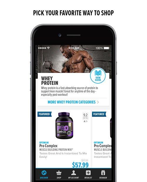 Bodybuilding.com Store app