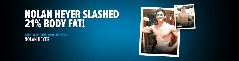 Body Transformation: Nolan Heyer Slashed 21% Body Fat!
