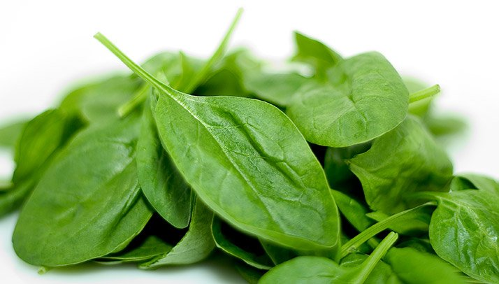 Spinach is a good source of glutamine, the amino acid that is important for lean muscle growth