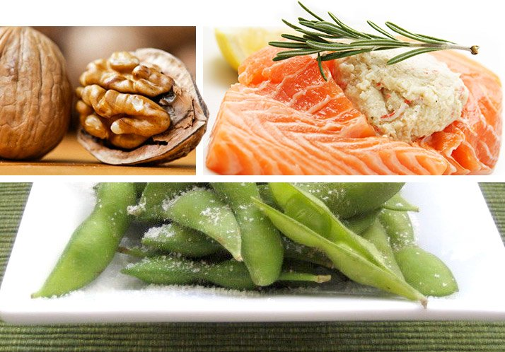 Omega-3 Fatty Acids: can be found in fish such as salmon, tuna and halibut, some plants and nut oils.