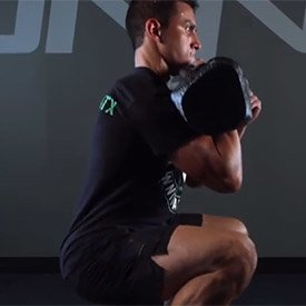 Single-kettlebell front squat