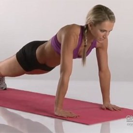 Plank up/downs
