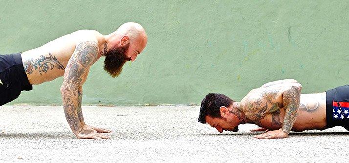 strength showdown push up vs bench press