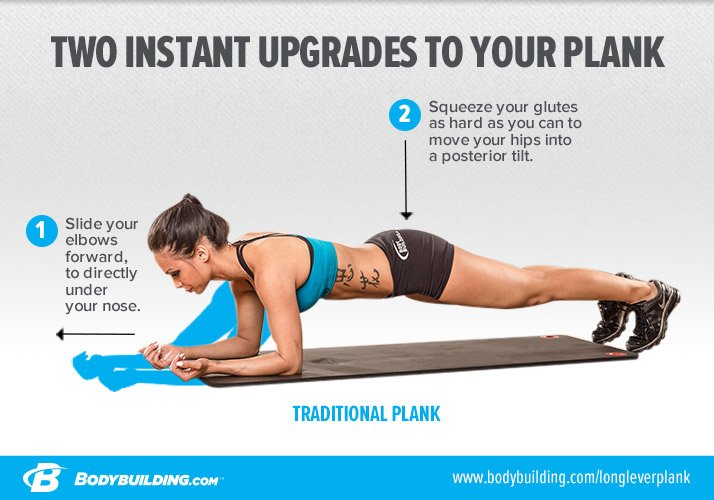 Two instant upgrades to your plank.