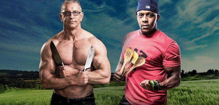Robert irvine vs kevin alexander fit men cook off bodybuilding com