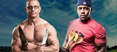 Robert Irvine Vs. Kevin Alexander: Fit Men Cook-off