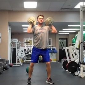 Dumbbell rotational shoulder presss