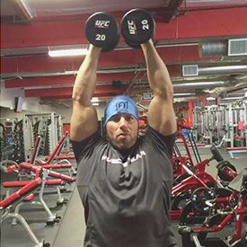 Seated overhead shoulder fly