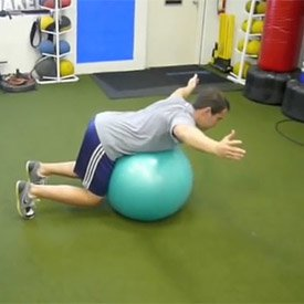 Bent-over shoulder 'T'