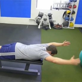 Bent-over shoulder Y