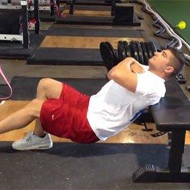 Single-leg hip thrust (back on bench)